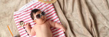 Baby with sunglasses